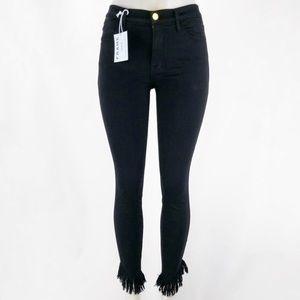 FRAME Le High Skinny Fringe Hem Jeans! Size 30.